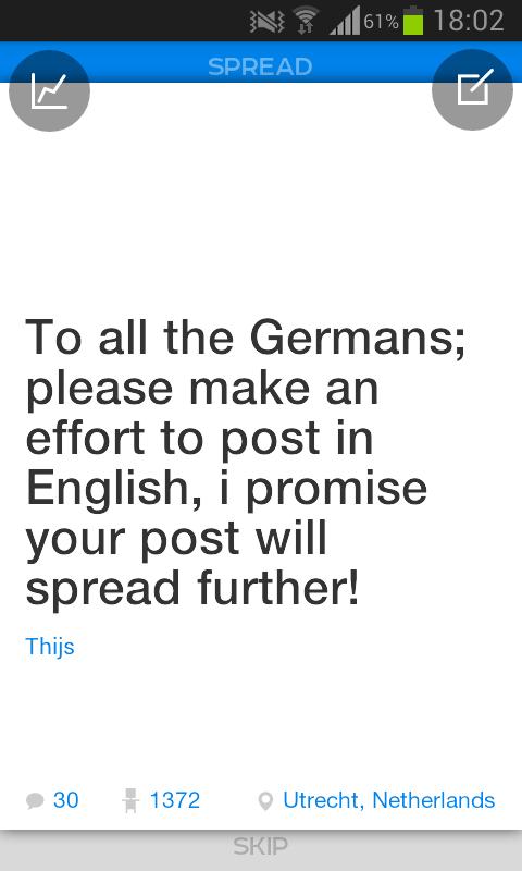 Plague: Deutsche schreibt in Englisch! (Screenshot: Dezember 2014)