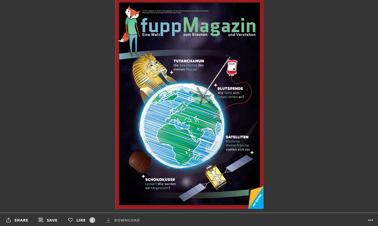 Screenshot: Das fuppMagazin im Webplayer bei issuu.com