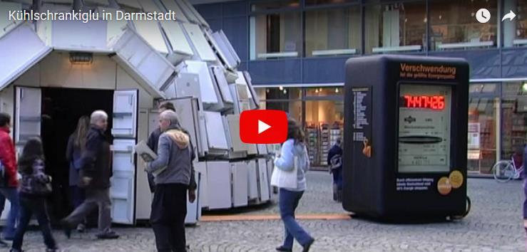 """Screenshot: """"Kühlschrankiglu in Darmstadt"""" im YouTube-Player"""
